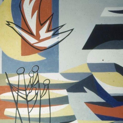 Detail E55 wandschildering