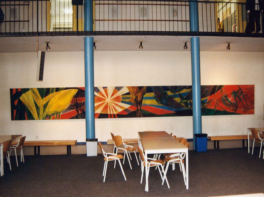 Wandschildering Maarten Luther school Rotterdam