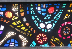 Detail raam st Caeciliakerk