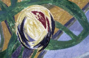 wandschildering Eudolia detail
