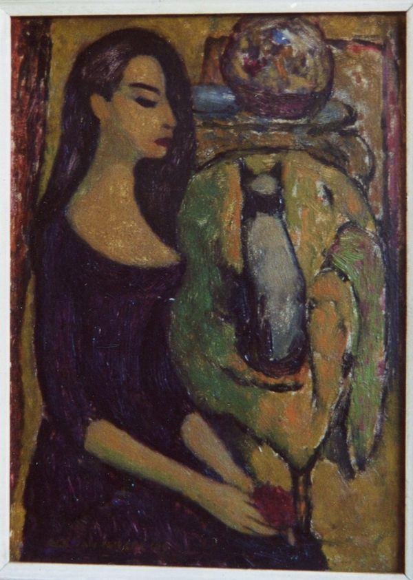 Vrouw met poes