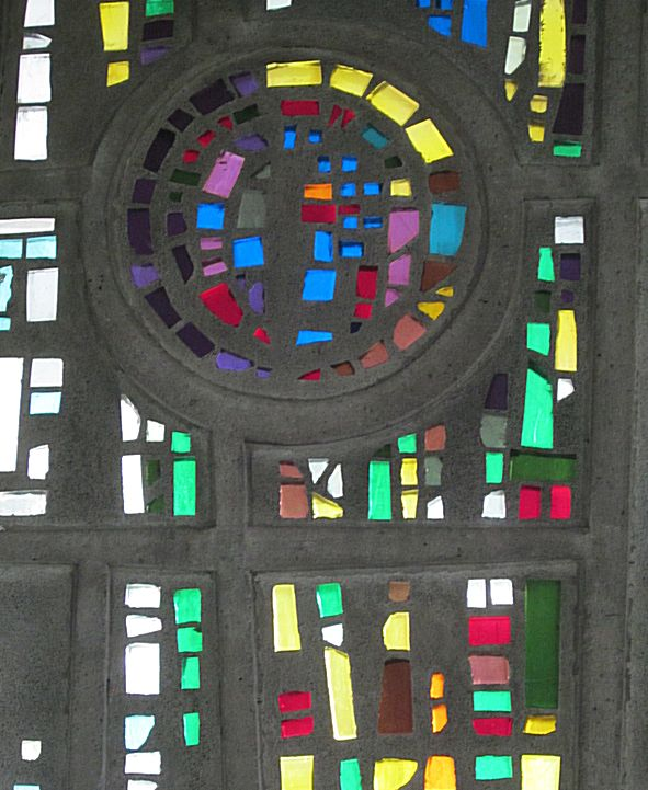 Detail raam de Heuvel