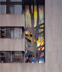 Glas in beton raam Hoogheemraadschap Schieland Rotterdam