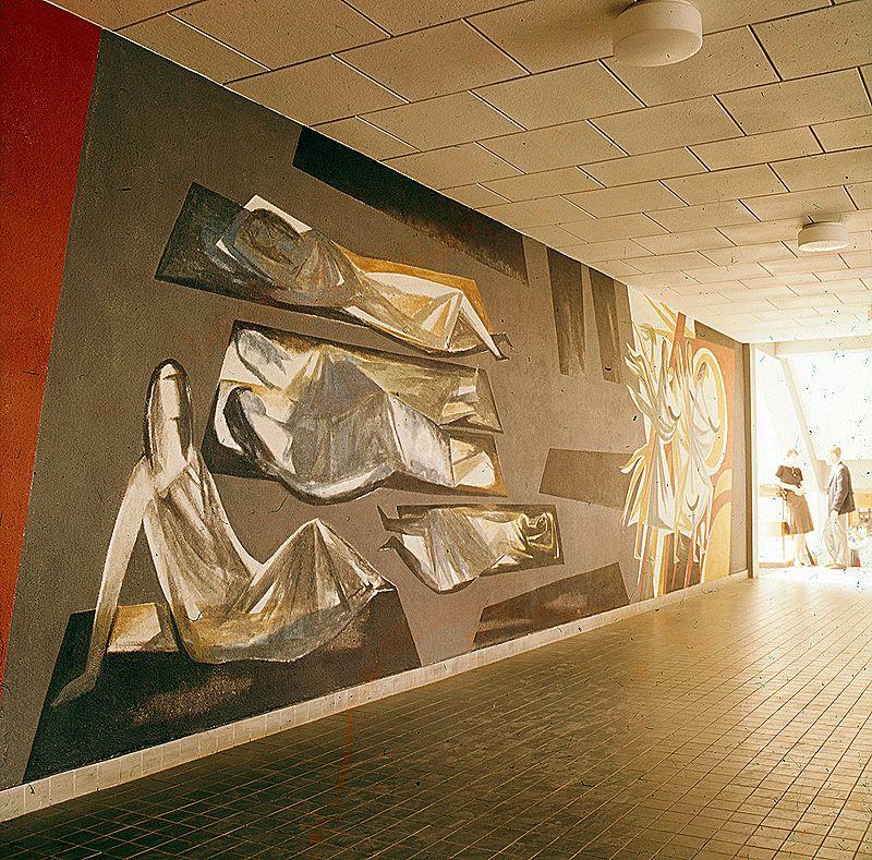 Wandschildering Melanchton school