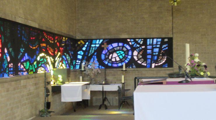 Hoek raam st Caeciliakerk